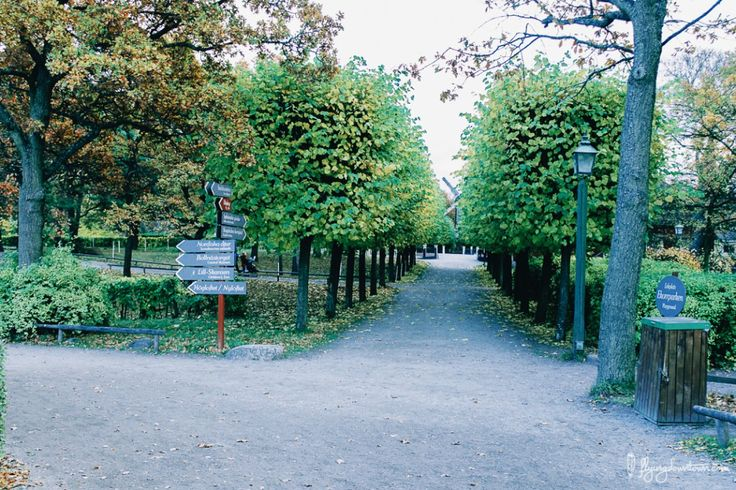 Les allées de Skansen #Stockholm