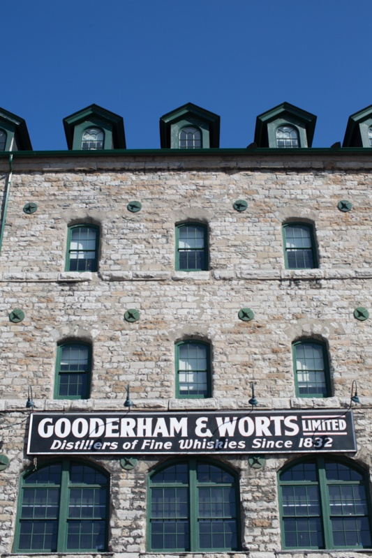 The old Gooderham and Worts Whisky building