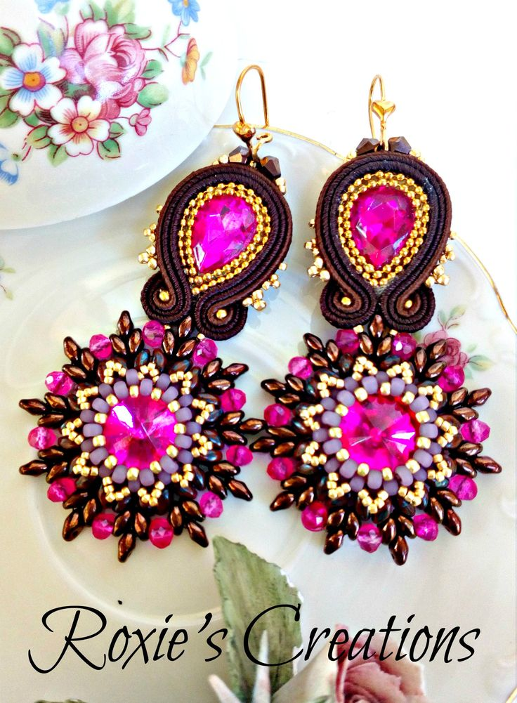Soutache Earrings, Handmade Earrings, Soutache Jewelry, Handmade from Italy (spedizione in Italia già inclusa nel prezzo!) di LeGioieDiRoxie su Etsy