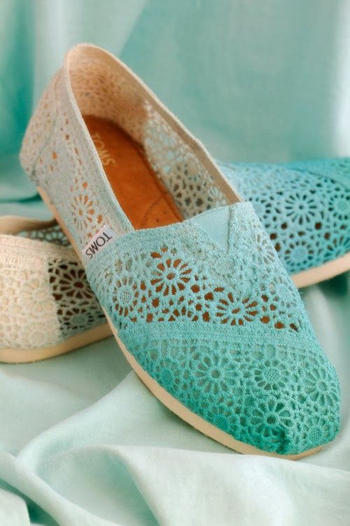 Mint Ladies Tom Flats. Definitely getting these Toms if I get a pair. -Zoe