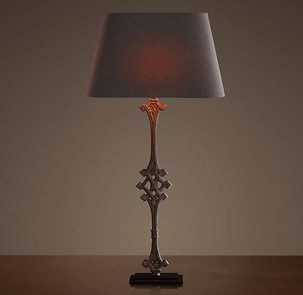 French balcony baluster table lamp