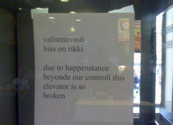 Funny Translation Fail