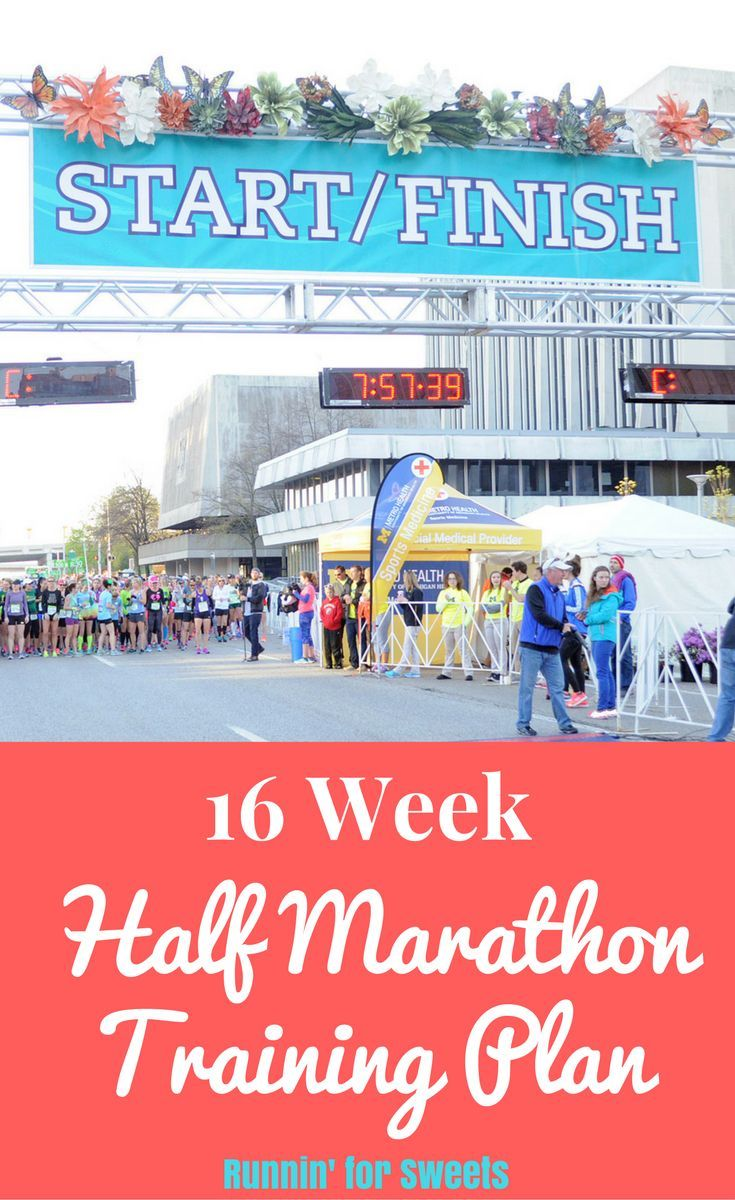 Free Printable Half Marathon Training Plan for Beginners | Strength  Workouts | Cross Training Ideas | 16 Week Training Program