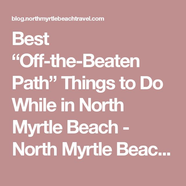 """Best """"Off-the-Beaten Path"""" Things to Do While in North Myrtle Beach - North Myrtle Beach Blog"""