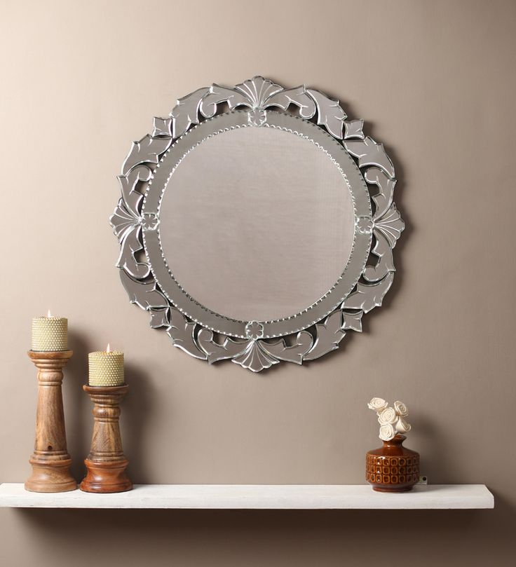 Reahana Silver MDF Mirror #mirrors #mirror #reflectors #show #pinit #pinterest #shazliving Shop at: https://www.shazliving.com/