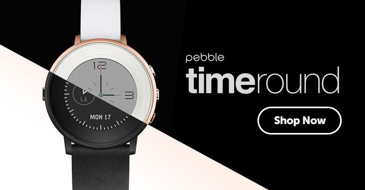 The Pebble Time Round is the world's thinnest and lightest smartwatch, and many Pebble models are 20% off just in time for the holidays! Great for the person on your list who wants to spend less time looking at their phone.