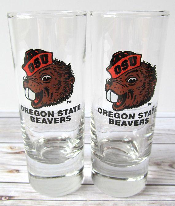 VINTAGE  Oregon State University Beavers Shot by BelleVintageShop