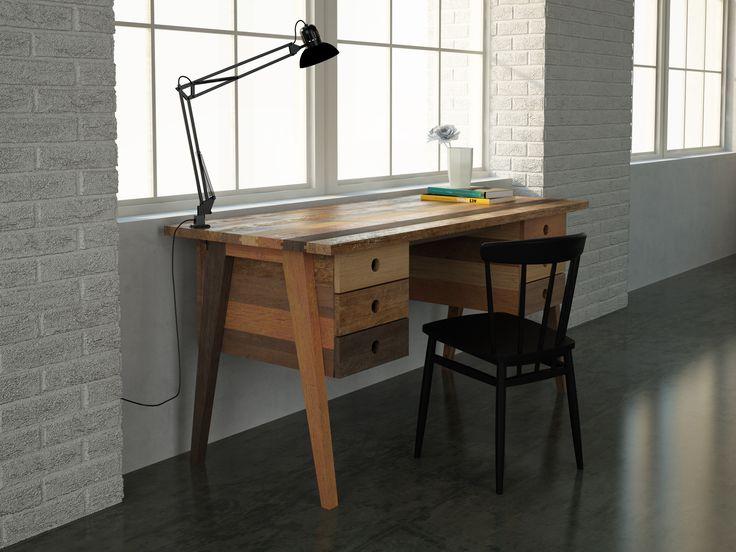 FSC Reclaimed hardwood desk. Brooklyn collection by KARPENTER.