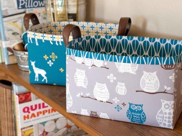 lillyella: Sturdy Fabric Basket Tutorial