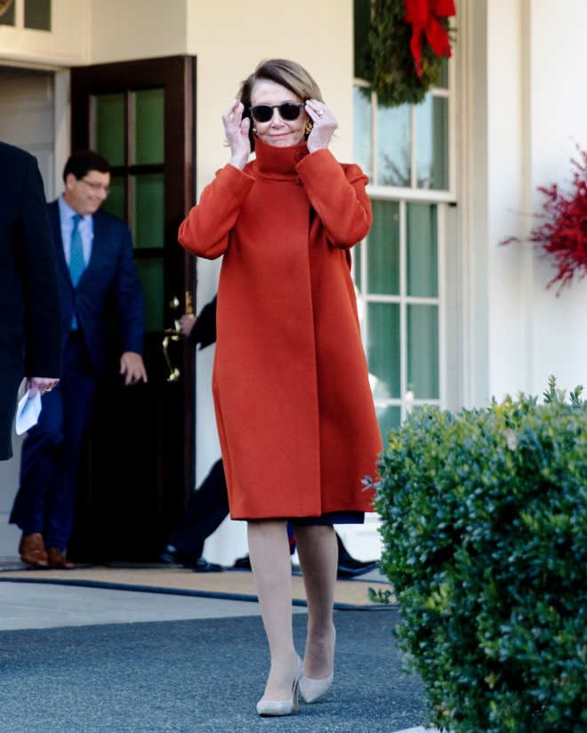 Here S Why Everyone Is Talking About Nancy Pelosi S Coat Business Attire Women Red Coat Casual Attire For Women