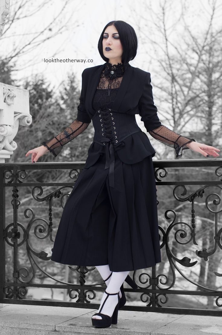 A Dream Within A Dream - Style Suggestions - Looktheotherway.co #elloneandreea #gothic #gothgirl #gothgoth #gothiclolita