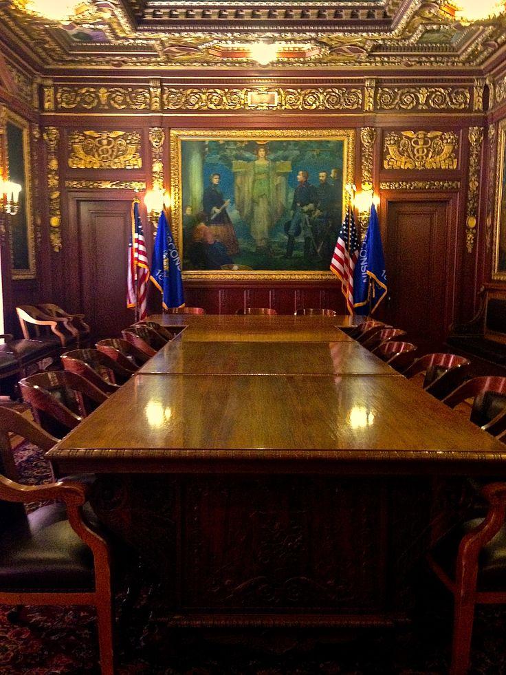 The Wisconsin Governor's Conference Room at the Capitol Building in Madison.