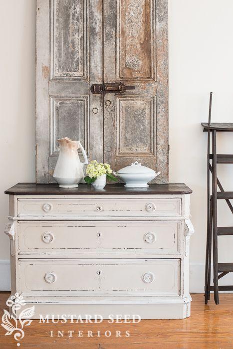 "say hello to ""marzipan"" - Miss Mustard Seed Craigslist dresser Old vintage doors"