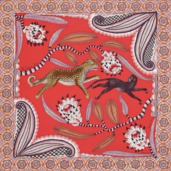 Hermes The Savana Dance scarf