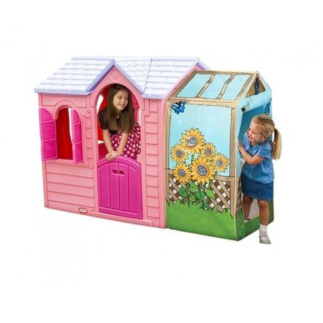Jucarii de exterior :: Casute si spatii de joaca :: Casute pentru copii :: Casuta cu flori roz Little Tikes