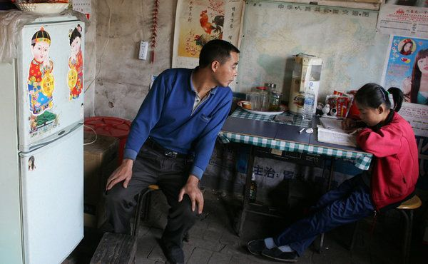 In China, Families Bet It All on College for Their Children - Wu Yiebing has been going down coal shafts practically every workday of his life, wrestling an electric drill for 500 (USD) a month in the choking dust of claustrophobic tunnels, with one goal in mind: paying for his daughter's education. His wife, Cao Weiping, toils from dawn to sunset in orchards every day during apple season in May and June. She earns 12 (USD) a day.
