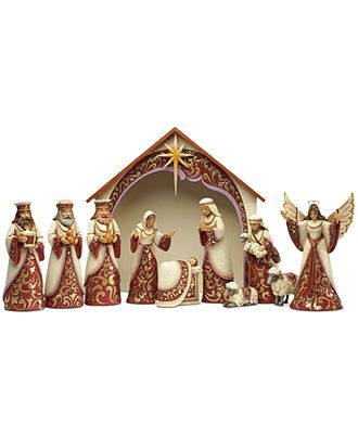 Jim Shore Collectible Figurine, 11-Piece Masterpiece Nativity Set - Holiday Lane - Macy's