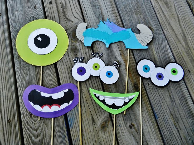 Monsters University Party - Photo Booth Props