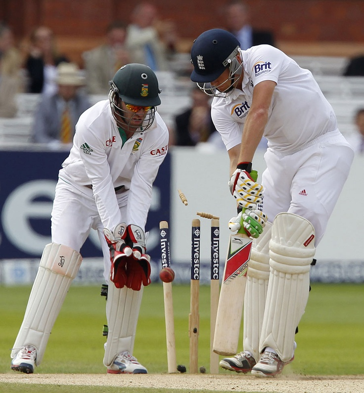Jonny Bairstow was bowled by Imran Tahir after a rapid fifty