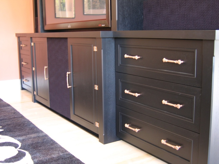 Oriental style display and media cabinet