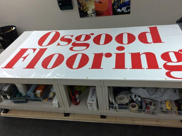 New wide banner for Osgood Flooring (14 oz scrim banner) completed by Speedpro Imaging Oakville!