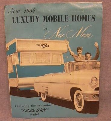 A 1954 New Moon brochure with floor plans. Featured in the Long, Long Trailer movie with Lucy & Desi, they were made in Michigan.