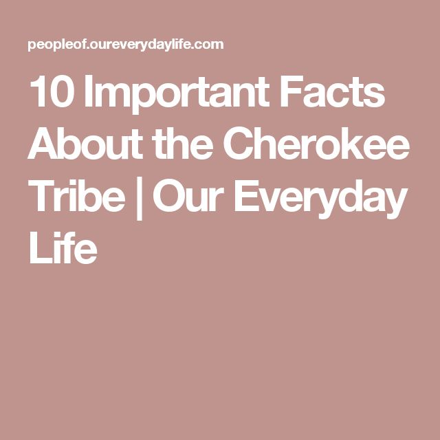 10 Important Facts About the Cherokee Tribe | Our Everyday Life