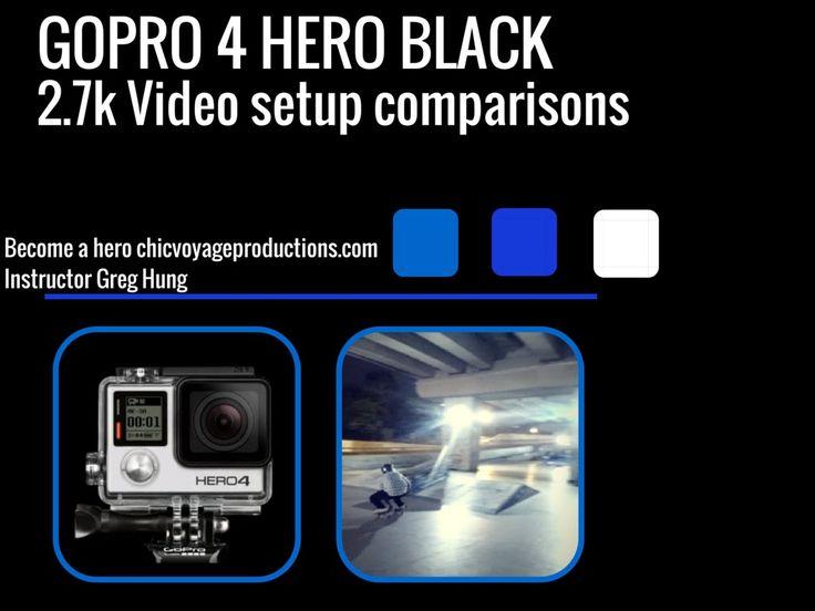 Go Pro 4 Hero Black - 2.7k comparison in 2k