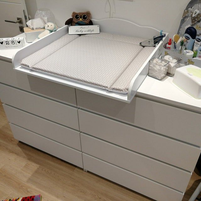 Puckdaddy Natural Wood Changing Unit Table Top Cot Top For Ikea Malm Chest Of Drawers Without Dresser In 2020 Ikea Malm Ikea Malm Dresser Ikea