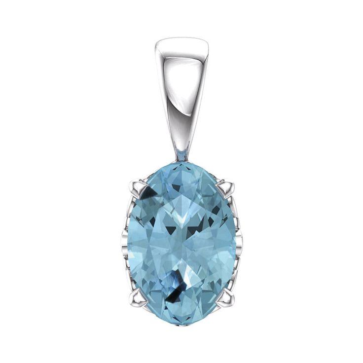 Fink's Jewelers - Fink's Oval Aquamarine Pendant, $275.00 (http://finksjewelers.com/finks-oval-aquamarine-pendant/)