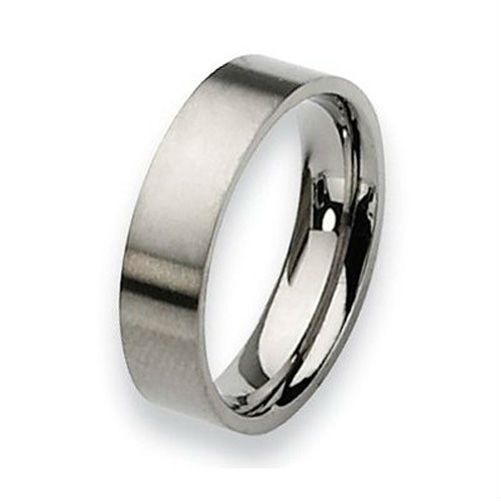 Tailor Made Pipe Cut Titanium Ring Brushed Flat Wedding Band Size 3 -18 whole, half & quarter (#TR03)