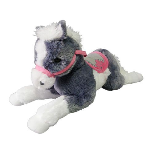 Horse Toys For Boys : Toys r us plush inch lying horse grey more