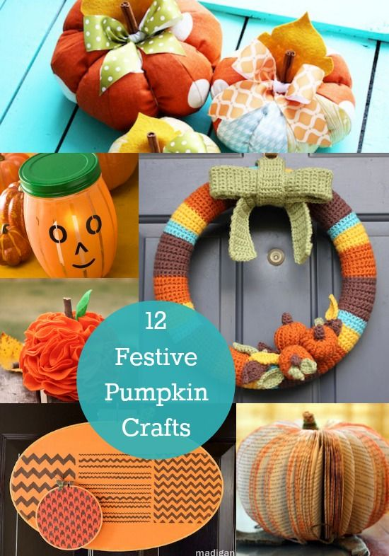 12 Festive Pumpkin Crafts - diycandy.com