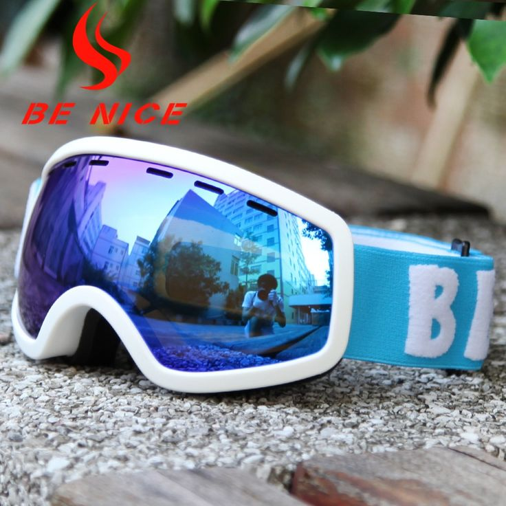 Be Nice Brand Outdoor children skiing goggle with Detachable Dual Layer Anti-Fog Double Lens Ski & Snowboard glasses Snow-4600