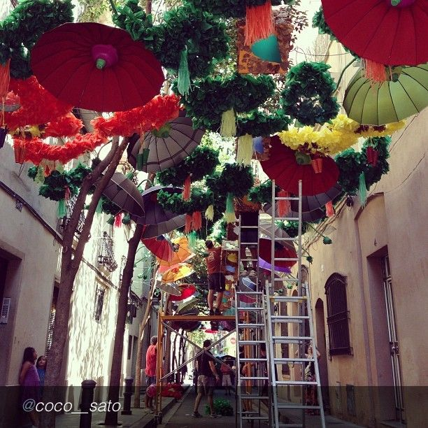 """A colorful and lively CAPSURE Submission by @coco__sato """"Les Festas de Gracia. Streets in Gracia districts are starting to look very colourful. #pantonegram #colorinspires #spain #barcelona #carnival #festival #summer @Lola M McGinnis"""