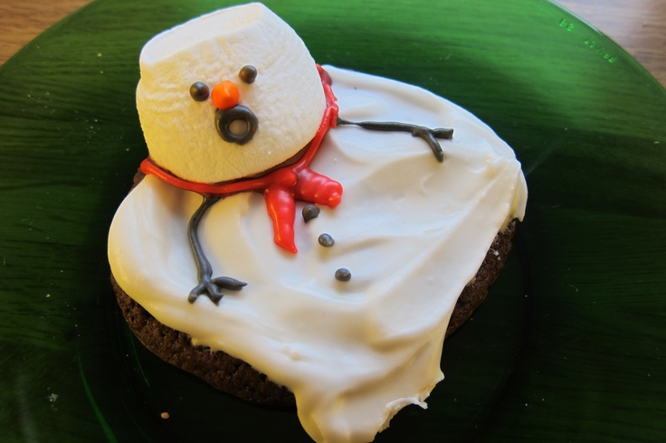 Melting snowman cookie