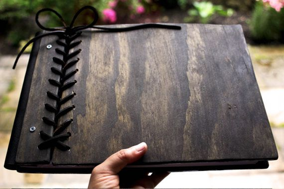 Rustic Guest Book Custom Personalized Wooden by RusticEngravings