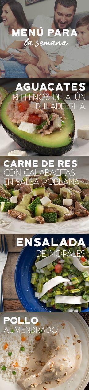 Si ya no tienes ideas para cocinar este fin de semana, disfruta de esta lista de recetas para comer en familia. #recetas #quesophiladelphia #philadelphia #crema #quesocrema #queso #comida #nopales #nopales #aguacates #carne #pollo