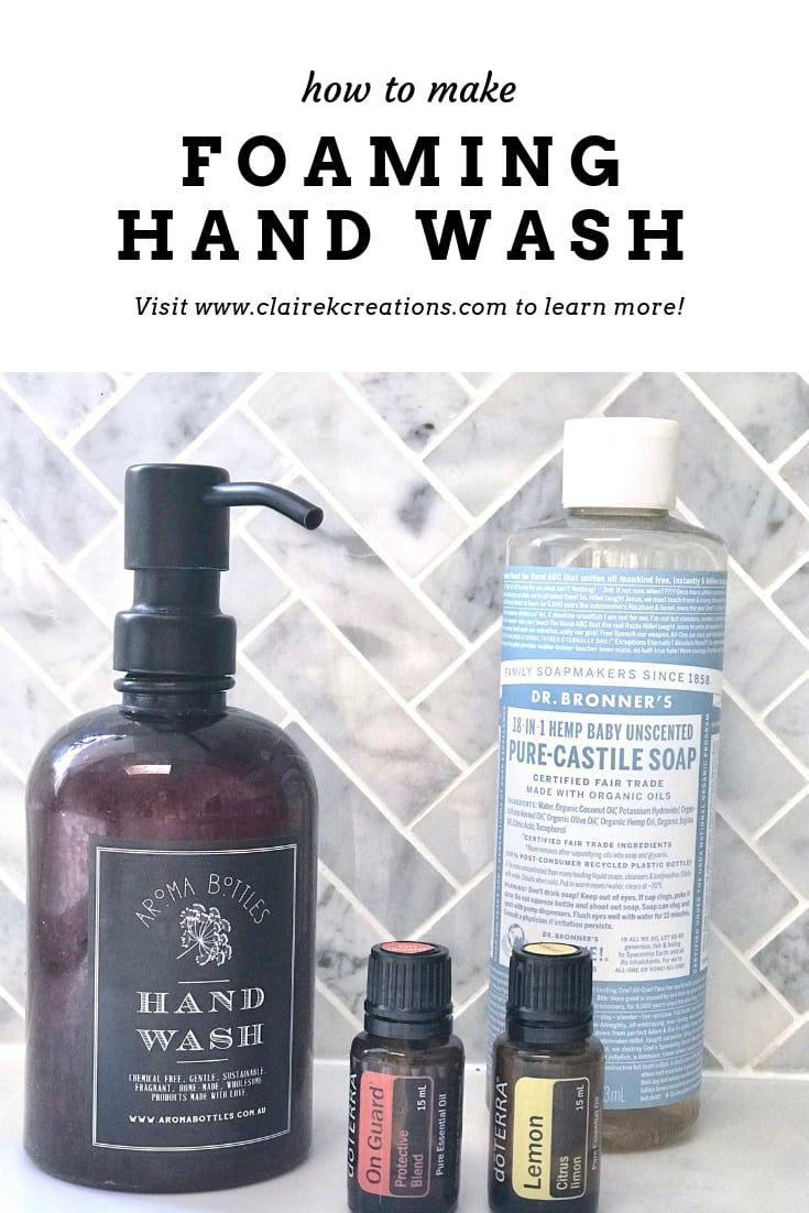 Homemade Foaming Hand Wash Foaming Hand Homemade Wash 2020