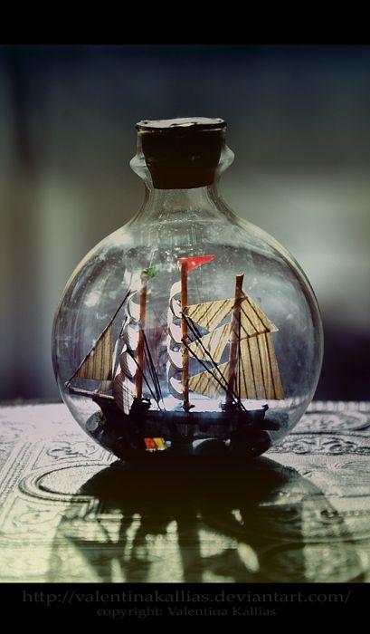 Trapped: Pirates Ships, Folk Art, Dreams, Sailing Ships, Boats, Black Kitchens, Sailing Away, Bottle, Nautical
