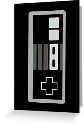 """""""Retro Game Controller by Chillee Wilson"""" Greeting Cards & Postcards by ChilleeWilson 