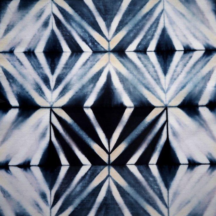 Shibori: Itajime-Quadratfalte – Francisca Núñez Reveco