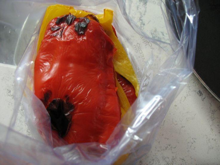 come togliere la pelle ai peperoni al microonde