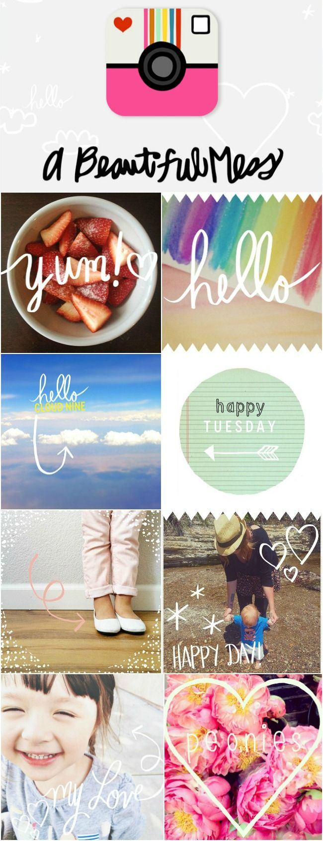 A Beautiful Mess App - the new must-have iPhone photo editing app! #abeautifulmess