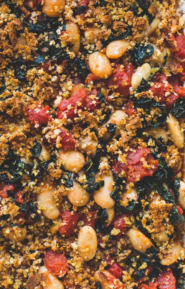 Cozy Gluten-Free Gratin with Roasted Tomatoes, Beans, and Kale