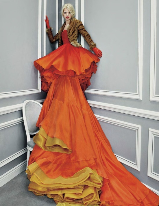 Daphne Groeneveld in Dior.