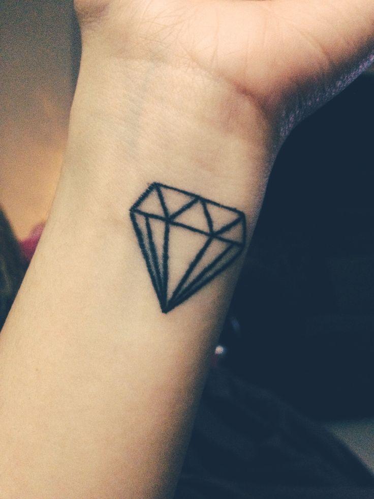 Diamond wrist tattoo tattoos pinterest wrist tattoo for Tattoos of diamonds