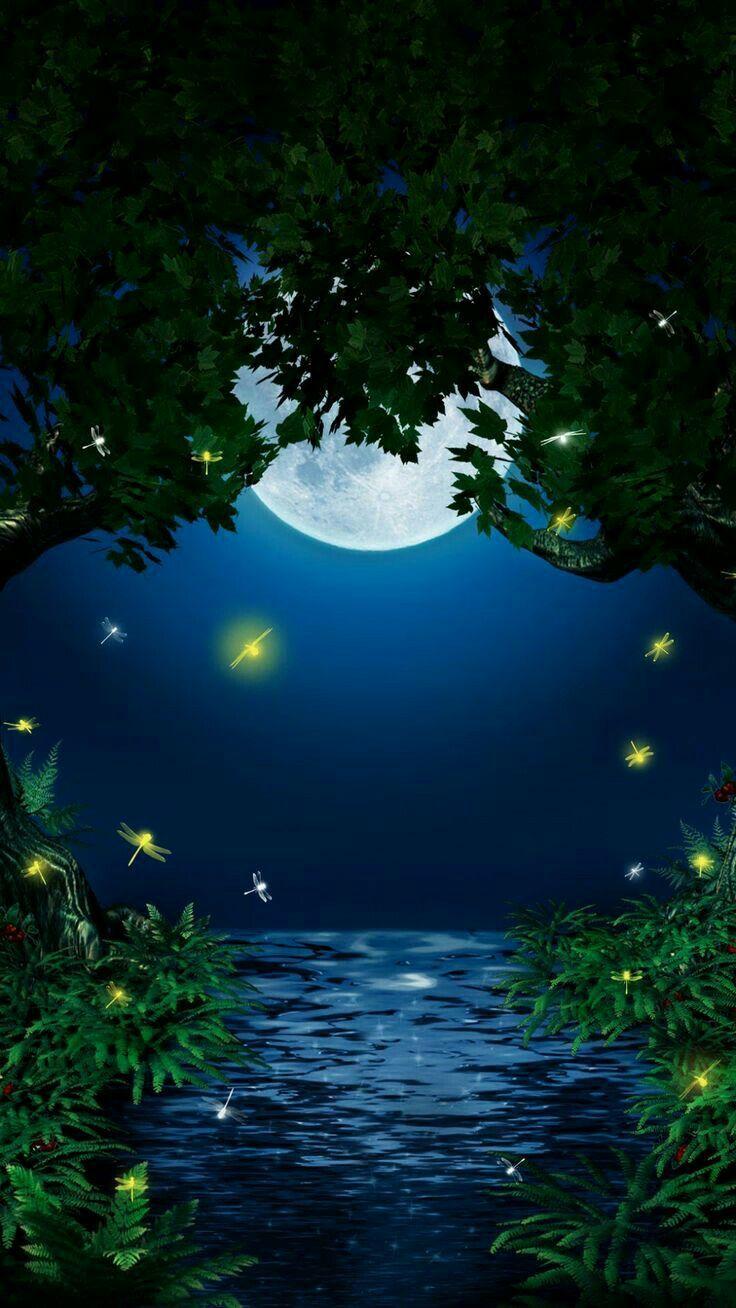 Картинки спокойной ночи природа мерцающие, шаблоны распечатать приятные