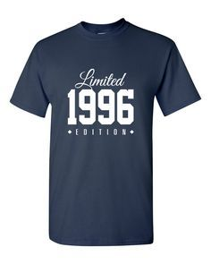 1996 Limited Edition Birthday 20th Birthday Party Shirt, 20 years old tshirt, 20th birthday, 20th birthday tee, gift for 20 year TH-190 by TeeHeeHeeShirt on Etsy https://www.etsy.com/listing/202061236/1996-limited-edition-birthday-20th