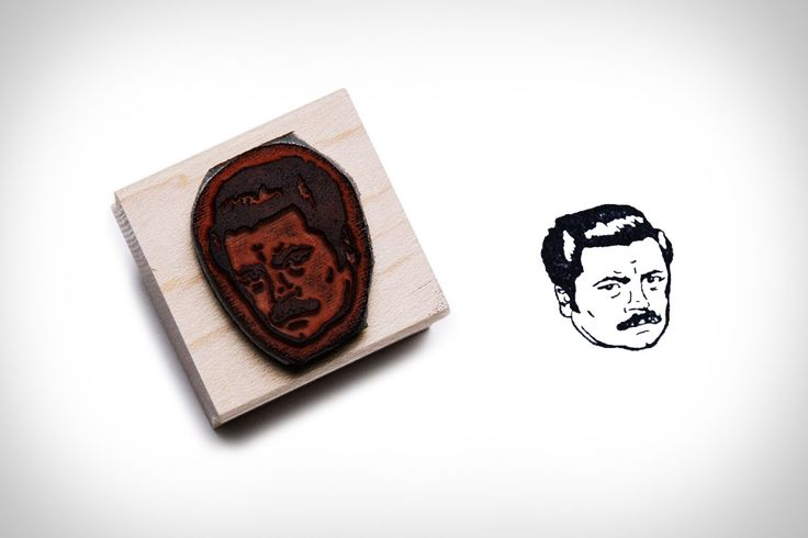 Custom Portrait Stamp- (Ron Swanson is just a handsome example)
